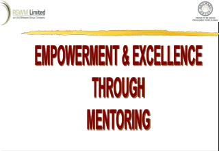 EMPOWERMENT & EXCELLENCE THROUGH MENTORING