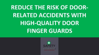 Reduce the risk of door-related accidents with high-quality door finger guards