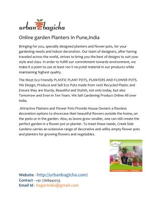online plastic pots in pune,india