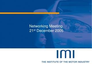 Networking Meeting  21st December 2005