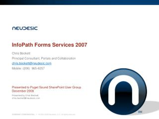 InfoPath Forms Services 2007