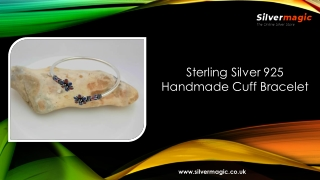 Sterling Silver 925 Handmade Cuff Bracelet