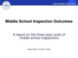 Middle School Inspection Outcomes