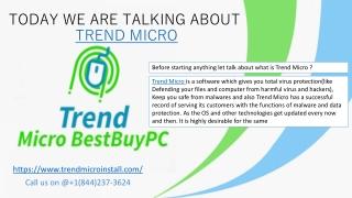 Trend Micro presentation