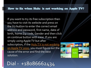 How to fix when  Hulu is not working on Apple TV?