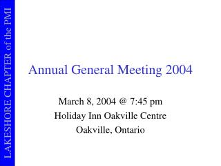 Annual General Meeting 2004
