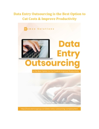 Data Entry Outsourcing is the Best Option to Cut Costs & Improve Productivity