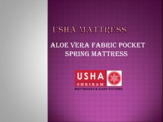 Aloe Vera Fabric Pocket Spring Mattress