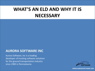 What's an ELD and Why It Is Necessary