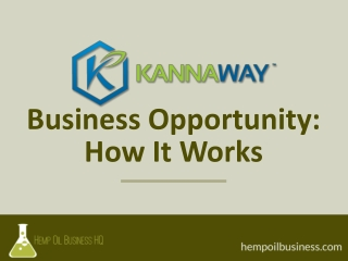 Kannaway MLM Network Marketing Business Opportunity: How It Works
