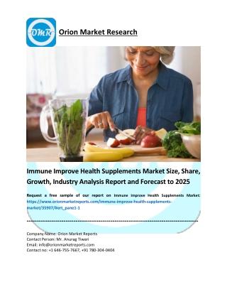 Immune Improve Health Supplements Market
