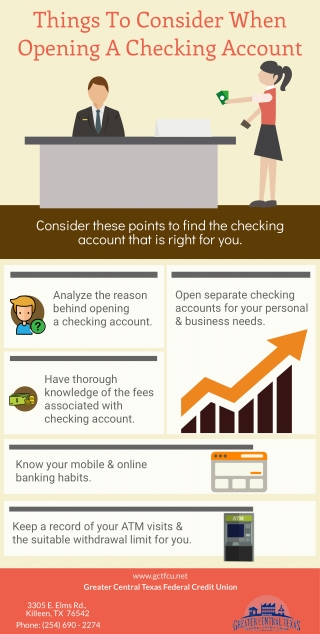 Things To Consider When Opening A Checking Account
