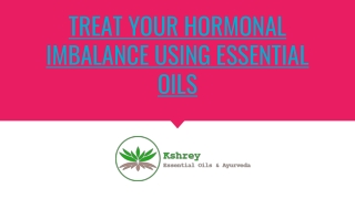 Best Essential Oils for Hormonal Imbalance