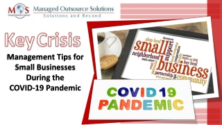 Key Crisis Management Tips for Small Businesses During the COVID-19 Pandemic