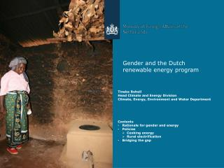 Gender and the Dutch renewable energy program