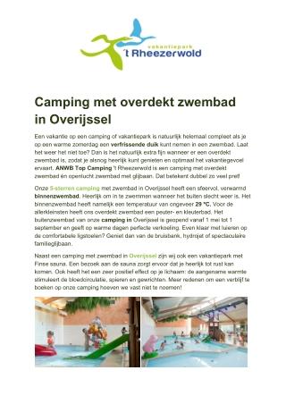 Vakantiepark 't Rheezerwold - Camping met overdekt zwembad