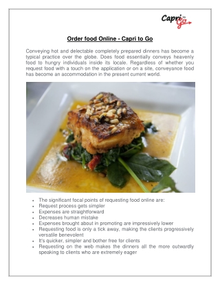 Order food Online - Capri to Go