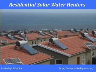 Residential Solar Water Heaters