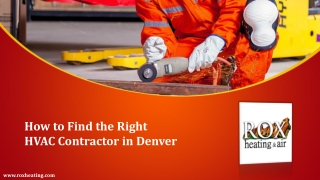 How to Find the Right HVAC Contractor in Denver