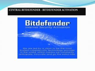 Central.bitdefender.com - Bitdefender Login   Bitdefender Activate