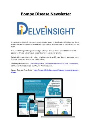 Newsletter : Pompe Disease Newsletter