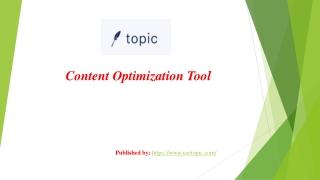 Content optimization tool