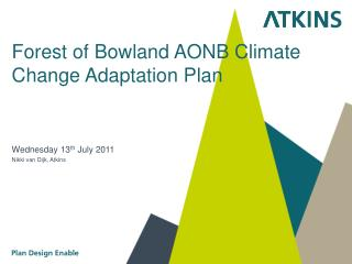 Forest of Bowland AONB Climate Change Adaptation Plan