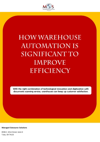 How Warehouse Automation Is Significant to Improve Efficiency