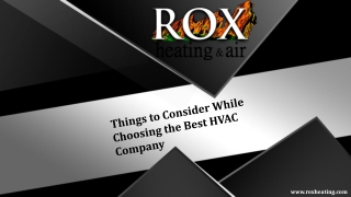 Things to Consider While Choosing the Best HVAC Company