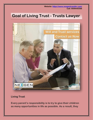 Goal of Living Trust - Trusts Lawyer