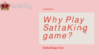 Why many people play SattaKing game?