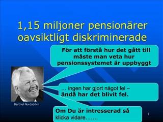 1,15 miljoner pension rer oavsiktligt diskriminerade