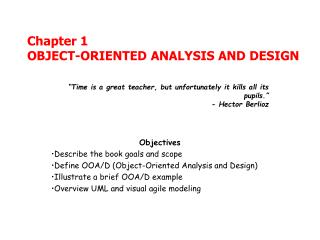 Chapter 1 OBJECT-ORIENTED ANALYSIS AND DESIGN