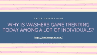 Why Is Washers Game Trending Today Among A Lot Of Individuals?