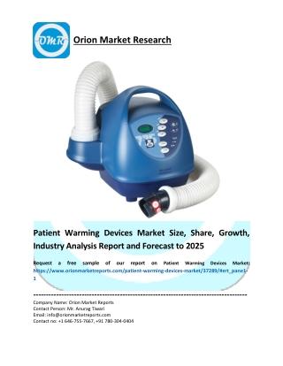 Patient Warming Devices Market