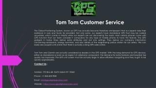 Tom Tom Customer Service