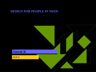 DESIGN FOR PEOPLE IN NEED