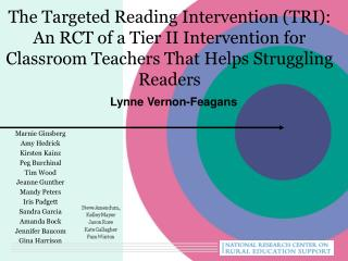 The Targeted Reading Intervention (TRI): An RCT of a Tier II Intervention for Classroom Teachers That Helps Struggling R
