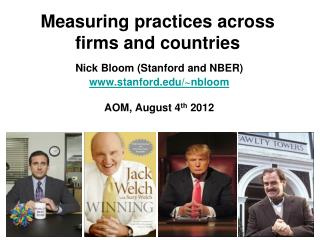 Measuring practices across firms and countries