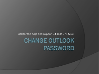 Changing the password of the Outlook account