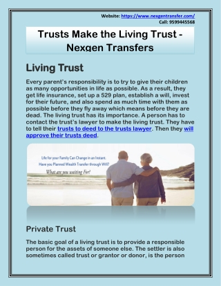 Trusts Make the Living Trust - Nexgen Transfers