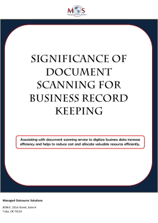 Significance of document scanning for business record keeping
