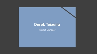 Derek Teixeira - Available to Speak on the Topic of Team Building