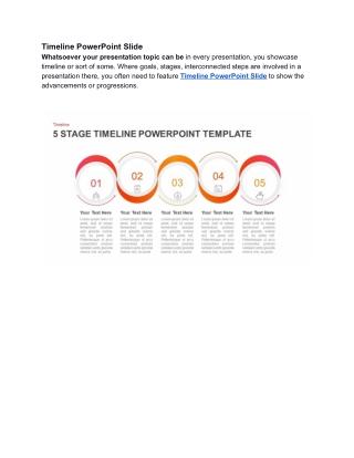 Timeline PowerPoint Slide