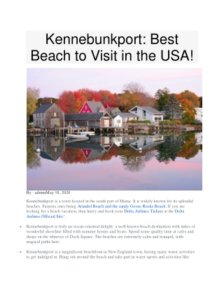 Kennebunkport: Best Beach to Visit in the USA!