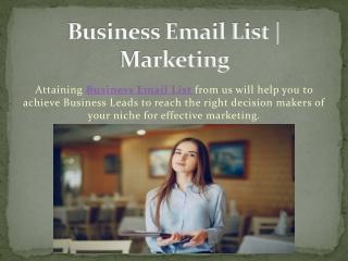 Business Contact Lists | Sales & Marketing Lists | DataCaptive