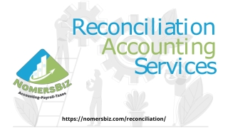 Reconciliation Accounting Services | NomersBiz