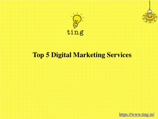 Top 5 Digital Marketing Services