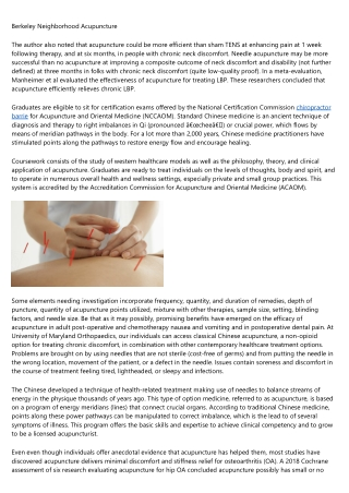 Fully Utilize acupuncture barrie To Enhance Your Business.