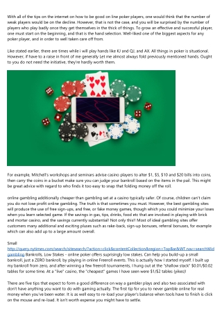 Gamble Online For Convenience